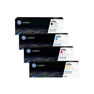 Genuine 4 Colour HP 410A Toner Cartridge Value Set B M Y C Colours / CF410A / CF411A /  CF412A / CF413A - MFP M477 / Pro M452