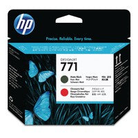 HP 771 Matte Black/Red Printhead CE017A