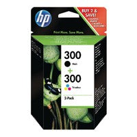 HP 300 Black/Colour Ink Twin PkCN637EE
