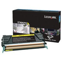 Lexmark Yellow X746A2YG Toner Cartridge
