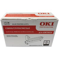 Oki C5850 Image Black Drum 43870024
