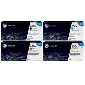 HP 650A Value Set B/C/M/Y CE270A/CE271A/CE272A/CE273A