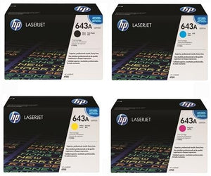 Genuine 4 Colour HP 4700 Toner Cartridge Value Set 643A B/C/M/Y Q5950A / Q5951A / Q5952A / Q5953A