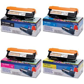 Brother TN-320 Black/Cyan/Magenta/Yellow Value Set TN320