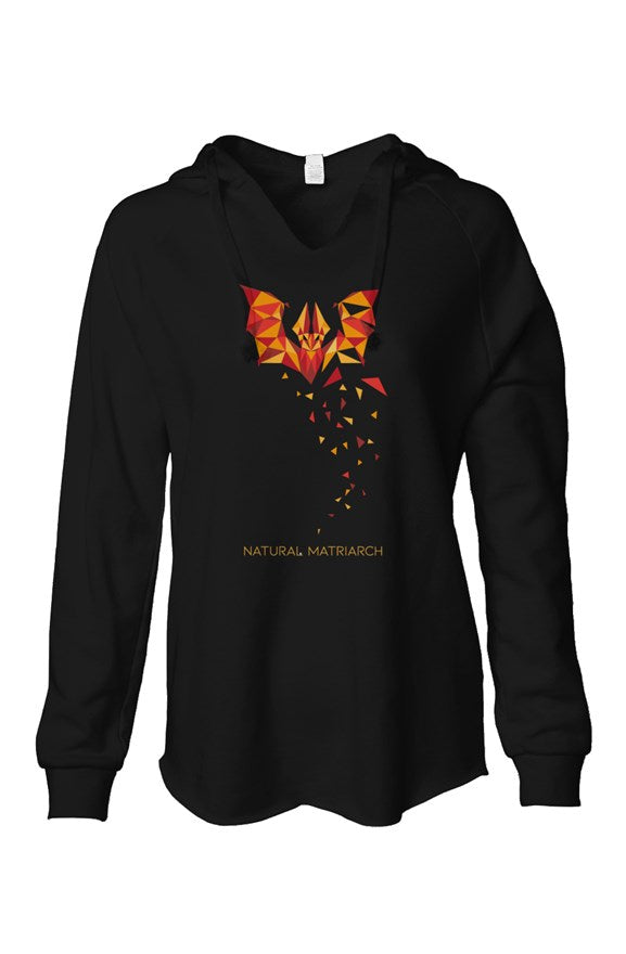 bat_lightweight wash hooded sweatshirt