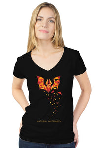 bat_womens tultex v neck