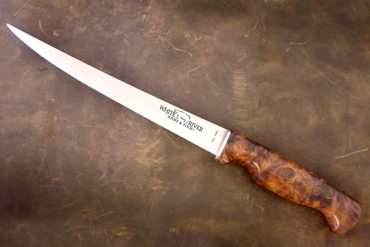 "Custom Fillet 8"" - Desert Ironwood Burl Handle"