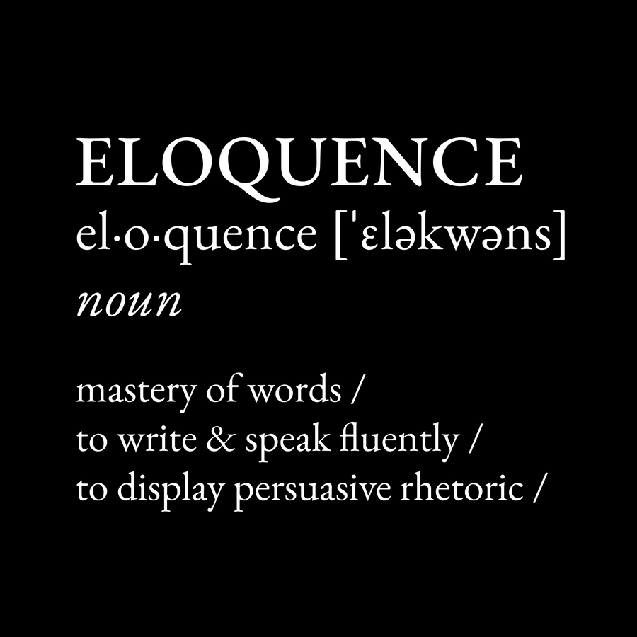 Definition: Eloquence