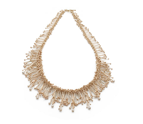 Gold and Diamond Statement Necklace