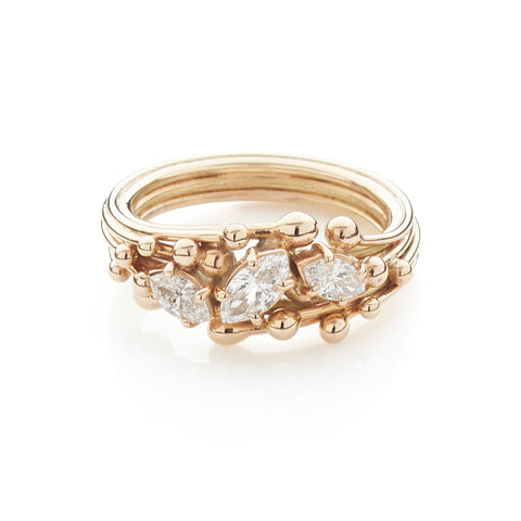 Marquise Cut Diamond and Gold Ring