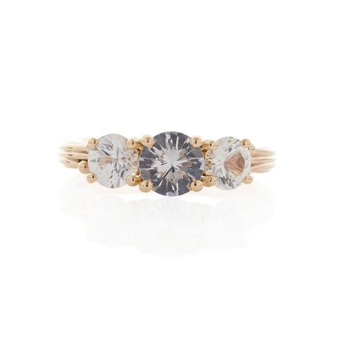 White Sapphire Gold Ring