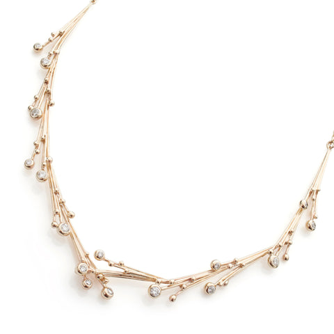 Statement Gold and Diamond Necklace