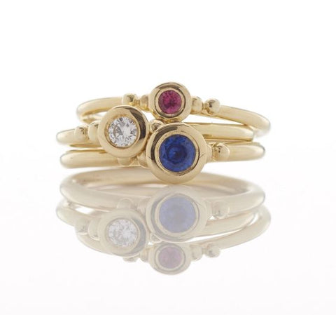 Diamond, Sapphire and Pink Tourmaline Rings
