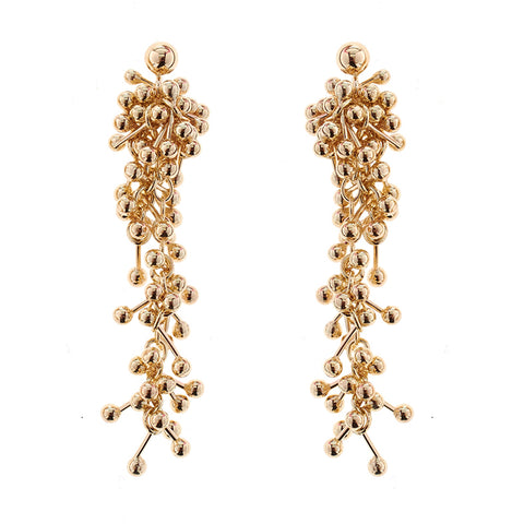 Gold Drop Statement Earrings