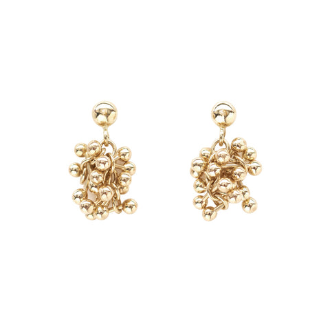 Fine 9ct Gold Cluster Earrings