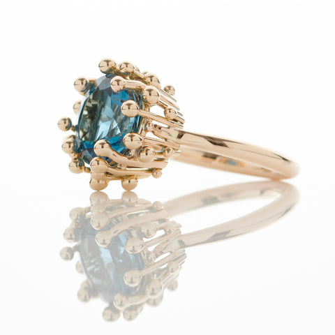 Gold London Blue Topaz Ring