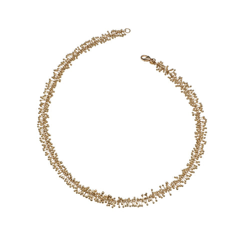 An elegant 18ct gold choker necklace. Handmade by Yen Jewellery