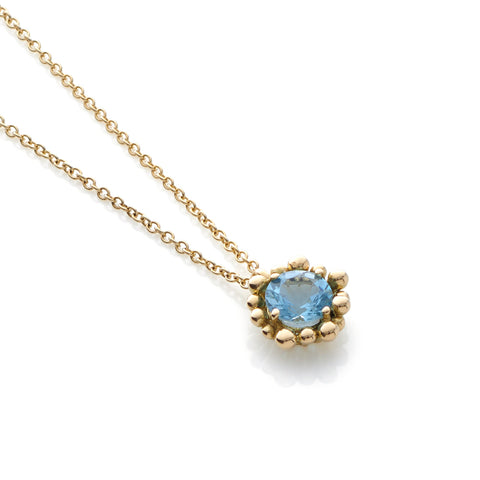 Fine Aquamarine Pendant Necklace