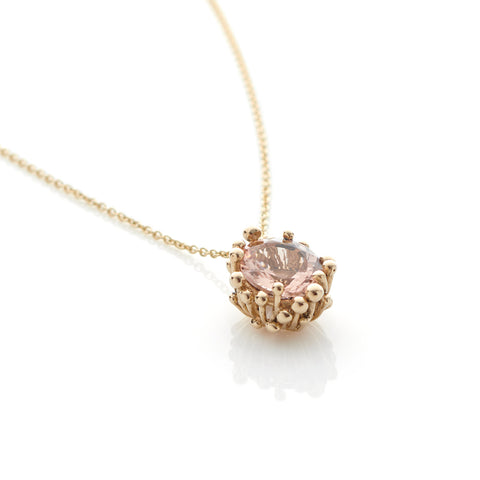 Fine Morganite Pendant Necklace