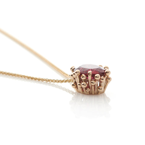 Rubellite Pendant Necklace