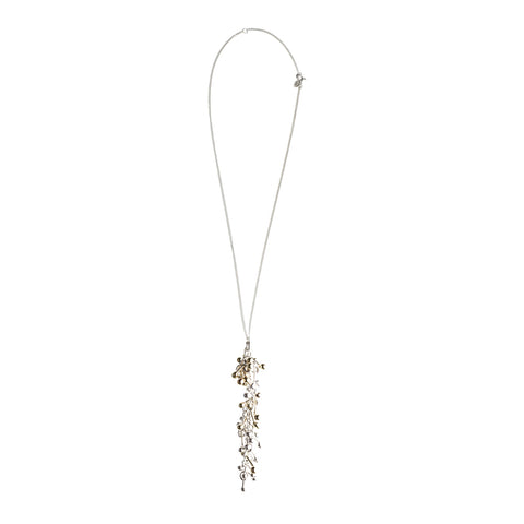 Silver and Gold Drop Necklace
