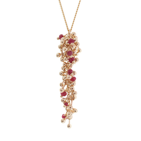 Ruby Gold Drop Pendant