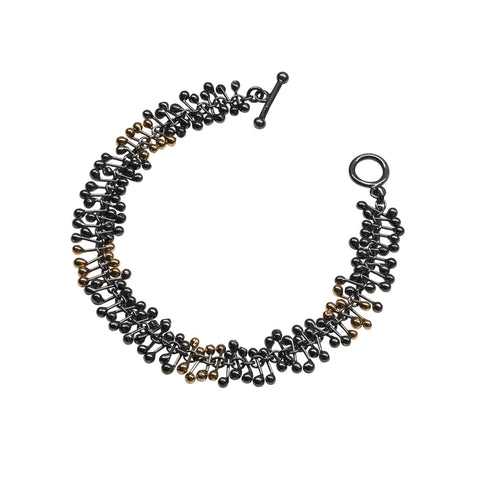 Black Silver and Gold Bracelet