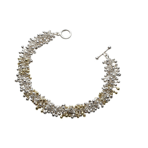 Silver and Gold Statement Bracelet