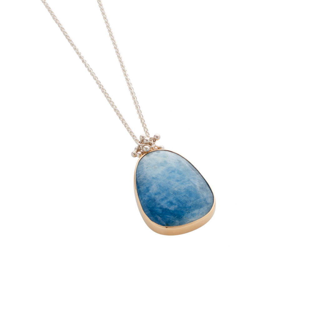 Molecule aquamarine pendant yen jewellery a large and unusual aquamarine gemstone is at the centre of this silver necklace handmade aloadofball Image collections