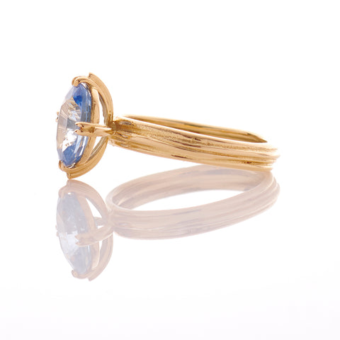 Oval Sapphire Fine 18ct Gold Ring