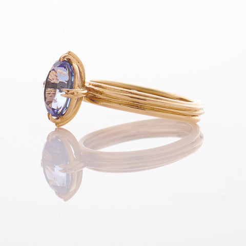Oval Tanzanite Fine 18ct Gold Ring