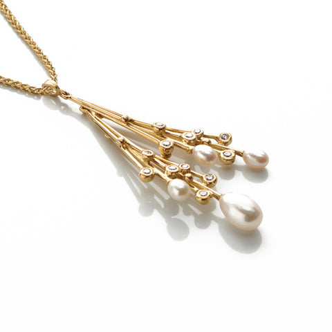 Pearls and Diamond Pendant