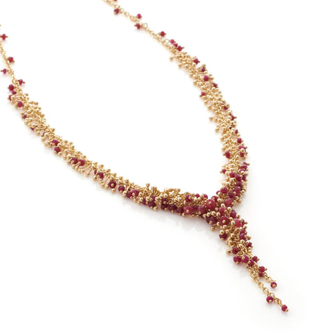 Ruby Cascade Necklace