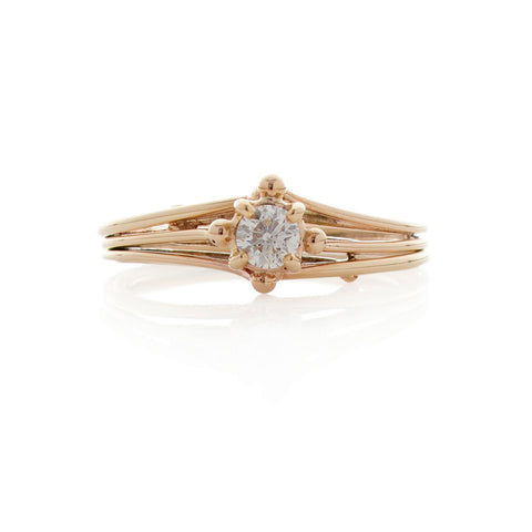 Fine Diamond Solitaire 9ct Gold Ring