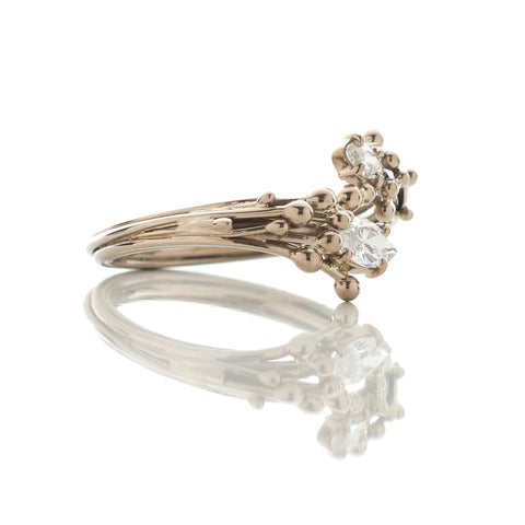 18ct White Gold Marquise Diamond Ring