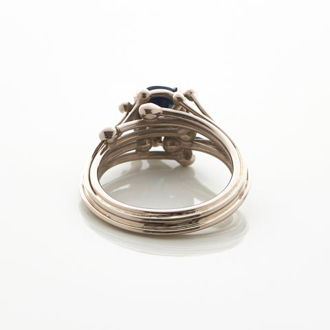 Entwine Sapphire White Gold Ring