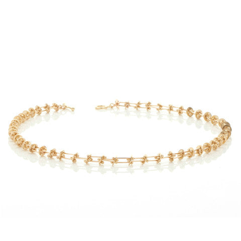 Interpolation Gold Chain Necklace