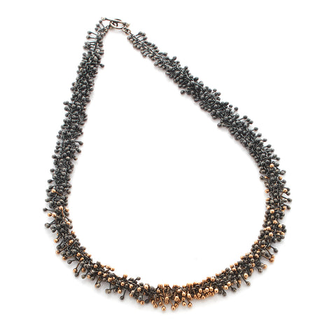 Black Silver and Gold Necklace