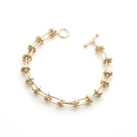 Interpolation Gold Bracelet