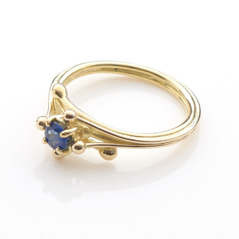 Entwine Blue Sapphire Ring
