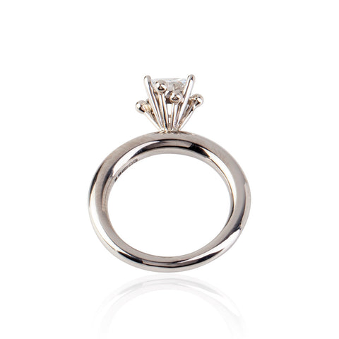 Princess Cut Diamond 18ct White Gold Ring
