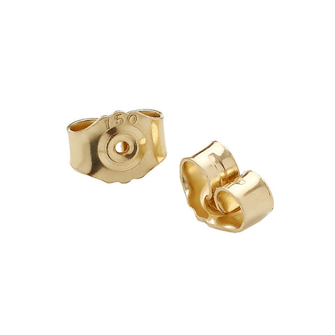 18ct gold butterfly backs for the 18ct gold cluster stud earrings. Part of Yen Jewellery's new Aestivation range.