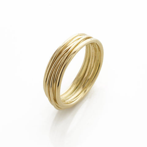 Large Gold Band Ring