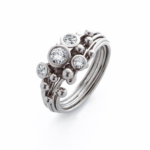 Diamond Swirl Entwine Ring