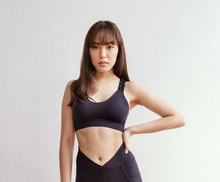 Load image into Gallery viewer, Charcoal Weave Sportsbra