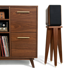 Speaker Stand shown with the Atocha Design Open/Close Cabinet.