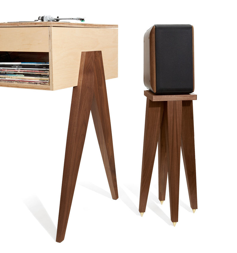 Our Speaker Stands make a chic companion to all of our designs.