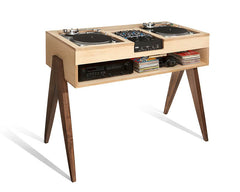 Mix in style with our Atocha Design DJ desk. Solid American walnut legs with a maple top.