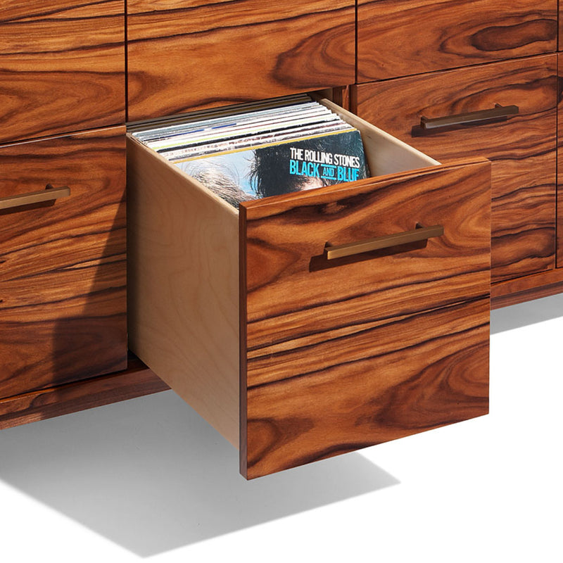 Open/Close 8 LP Drawer Record Cabinet (XL)