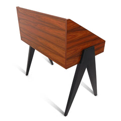 Atocha Design Record Stand Santos Palisander with Eboinized Legs